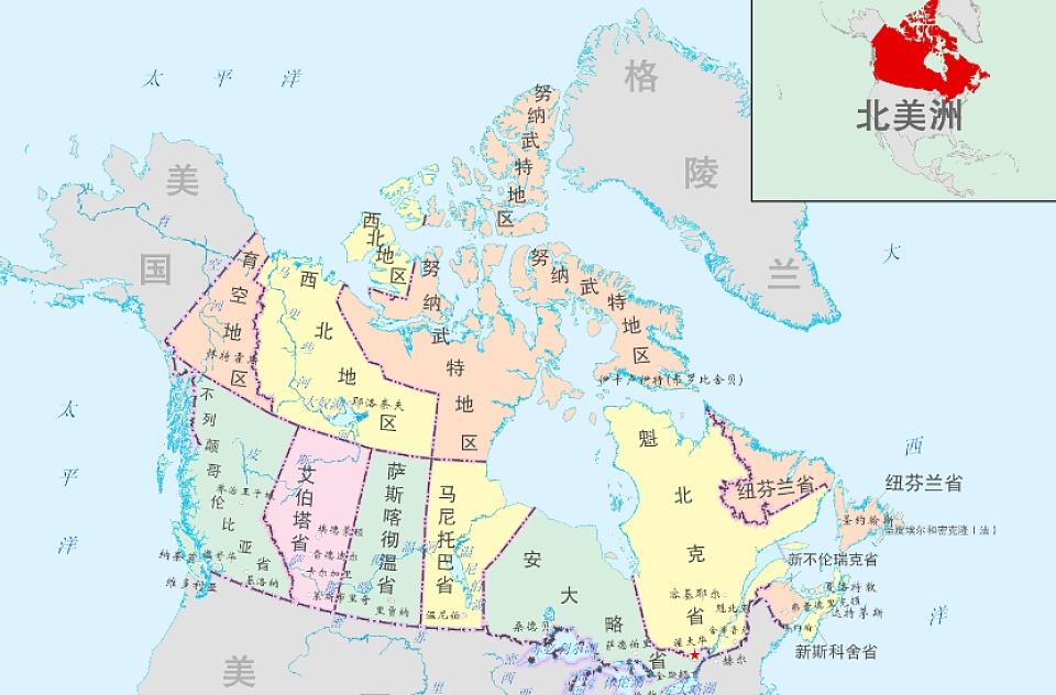 加拿大 人口分布_加拿大人口分布地图